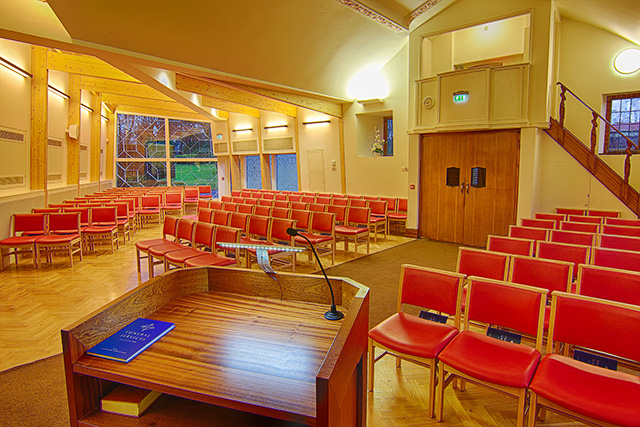 Medway Crematorium Seating from lectern - Family Funeral Service