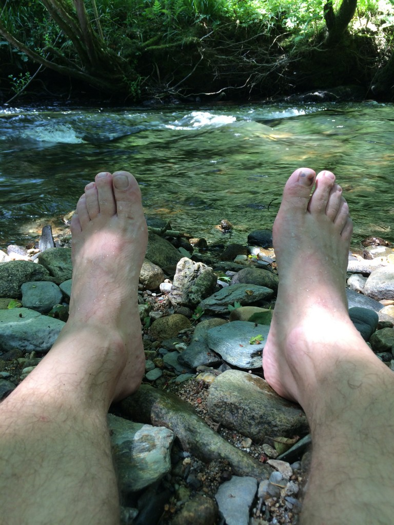 Cooling my feet in the Tamar