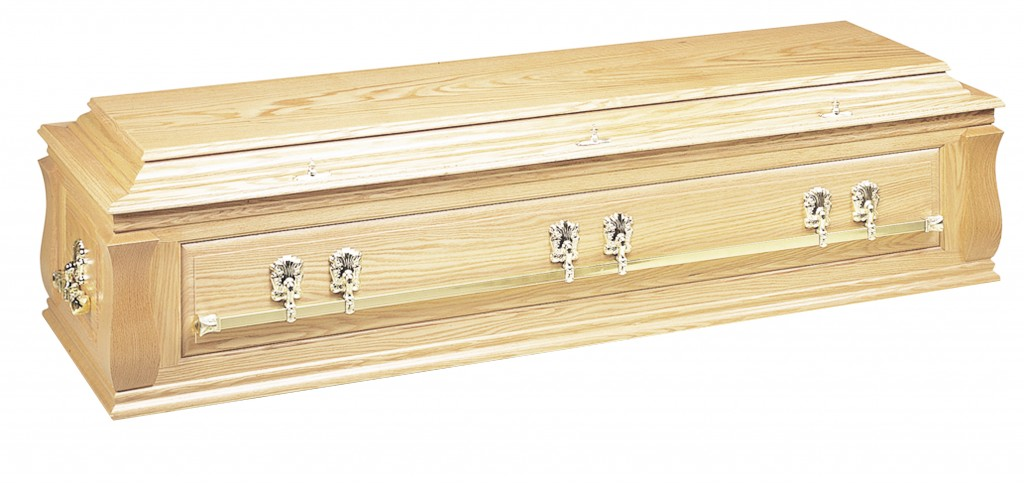 The Aston solid Oak casket