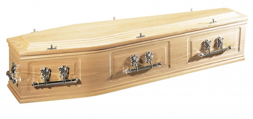 The Canterbury Oak, double mouldings, raised lid