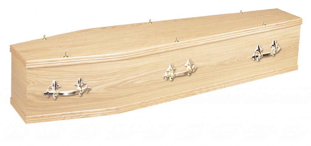 The Chiltern Oak veneer coffin
