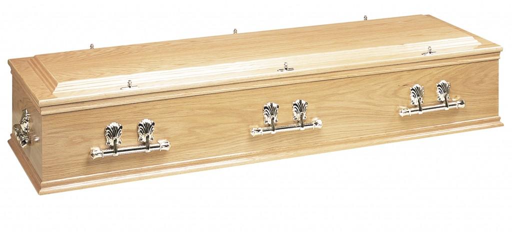 Crindon Oak veneered casket