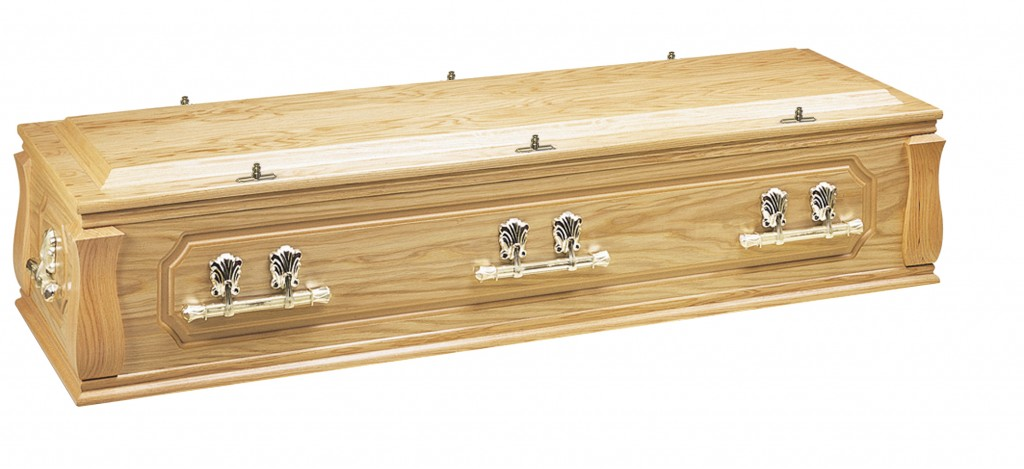The Longdon Oak veneered casket
