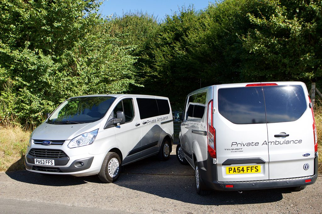 Two of our Professional Funeral Service vehicles