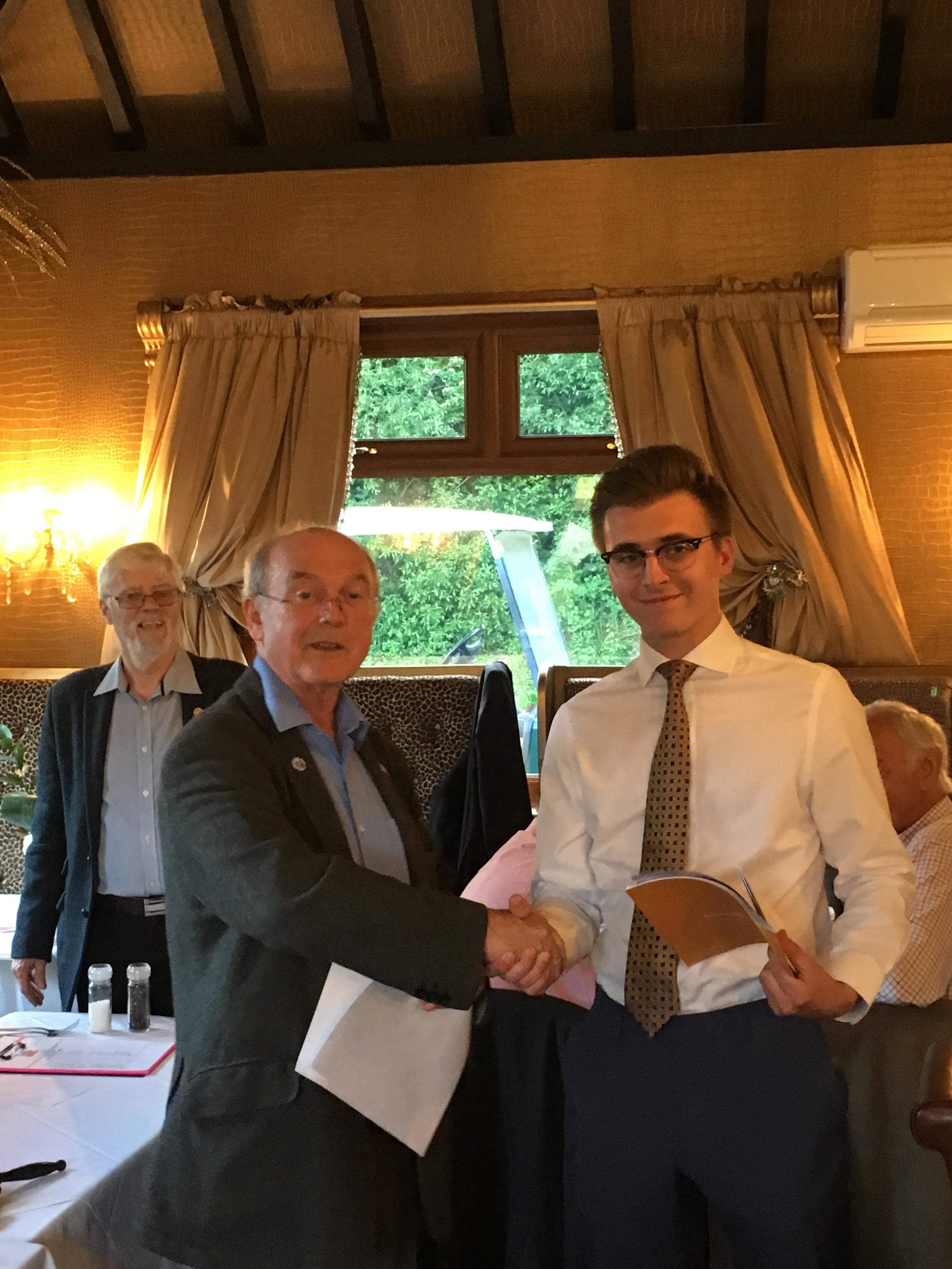 Robert joins Rotary