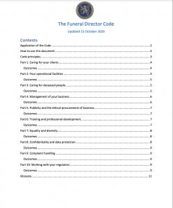 Funeral Directors Code