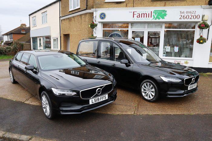 Volvo hearse and limousine