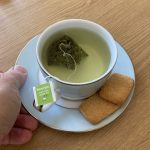 green tea, but others are available!